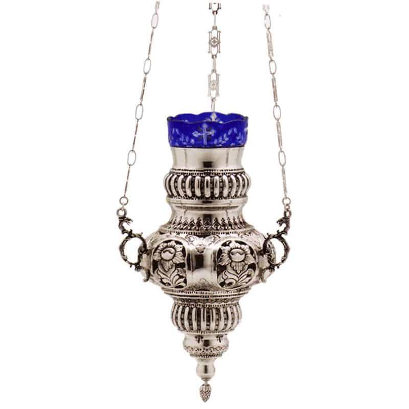 1128111Κανδήλι Ασημένιο Πάτμου Μαργαρίτα Μεσαίο