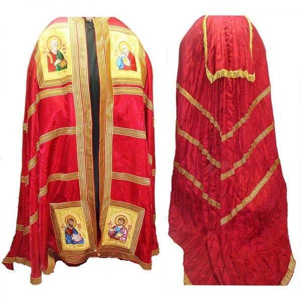 445193Αρχιερατικός Μανδύας με τους τέσσερις Ευαγγελιστες κεντημένους 1