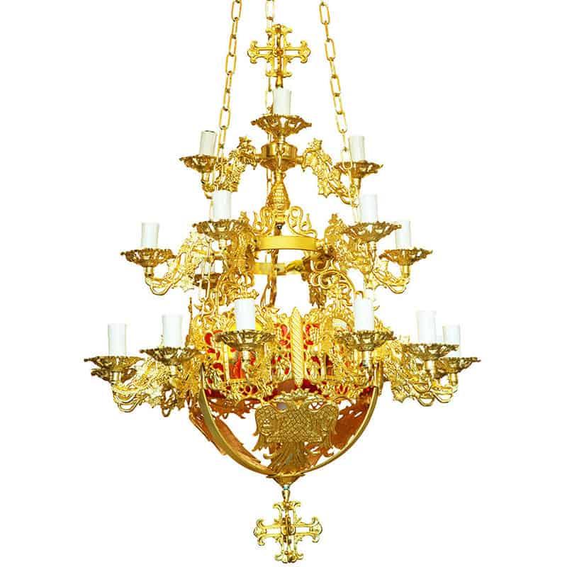 Aluminum chandelier