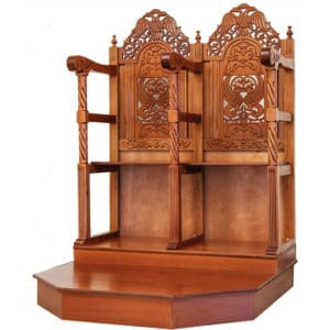 Analogion – Chanters pews with pedestal