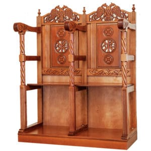 Ecclesiastical pew stall