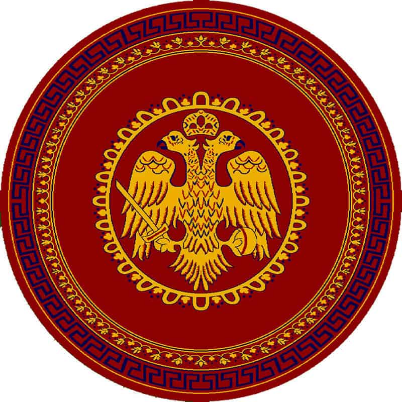 Round Carpet with double-headed Eagle