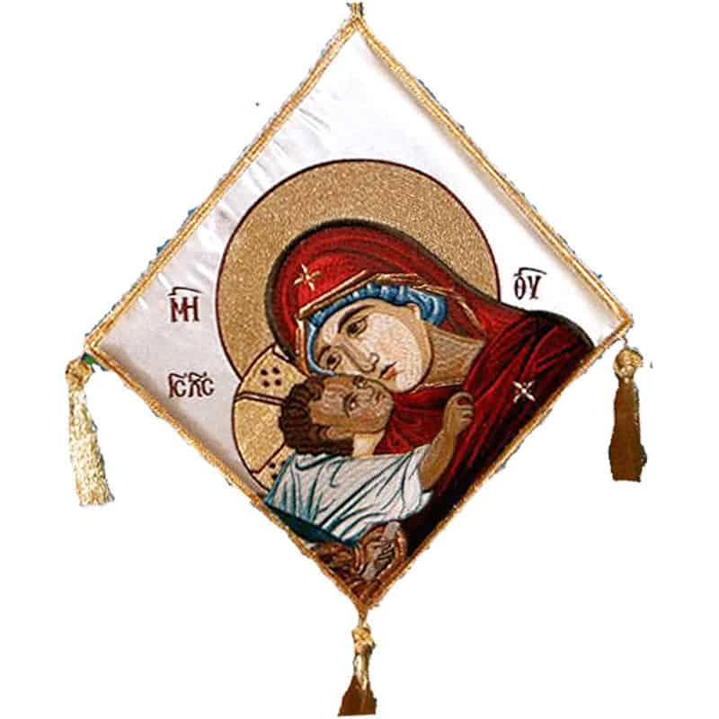 061551Επιγονάτιο χρυσοκέντητο Παναγία η Γλυκοφιλούσα