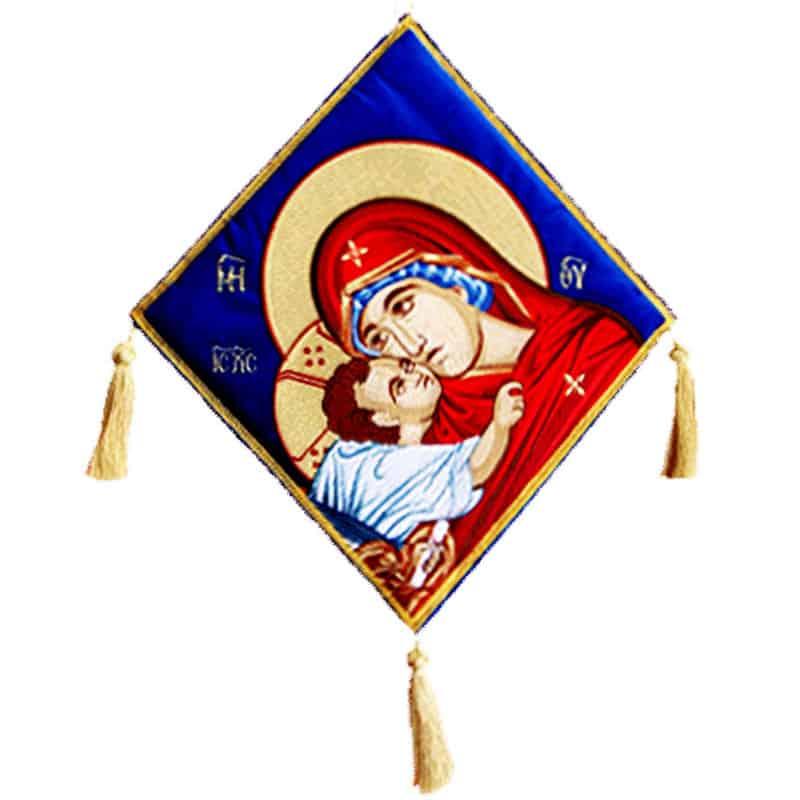 061591Επιγονάτιο χρυσοκέντητο Παναγία Γλυκοφιλούσσα