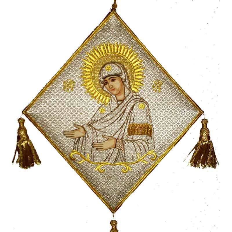 113461Επιγονάτιο χρυσοκέντητο Παναγιά Γερόντισσα