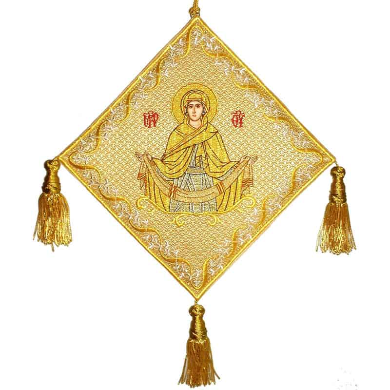 113701Επιγονάτιο χρυσοκέντητο Αγία Ζώνη