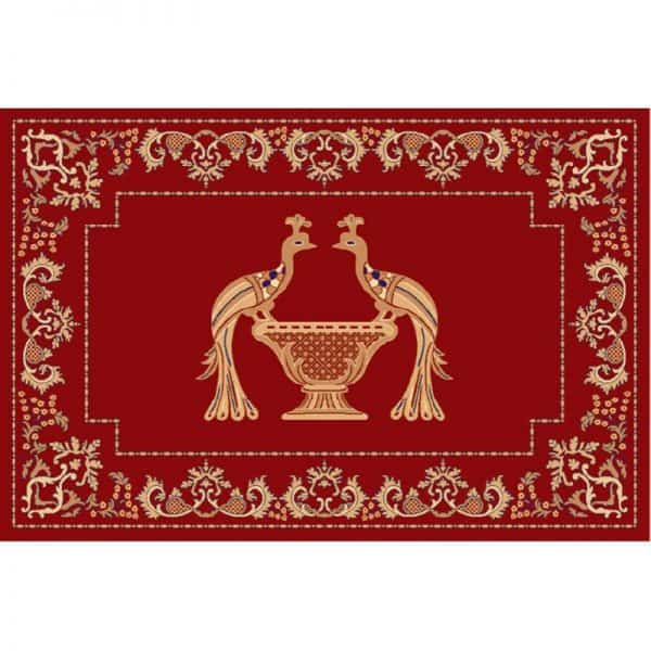 Rectangular Carpet with Peacocks
