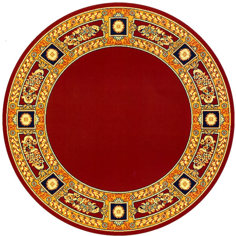 Round carpet with decoration