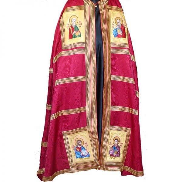 4451913Αρχιερατικός Μανδύας με τους τέσσερις Ευαγγελιστες κεντημένους