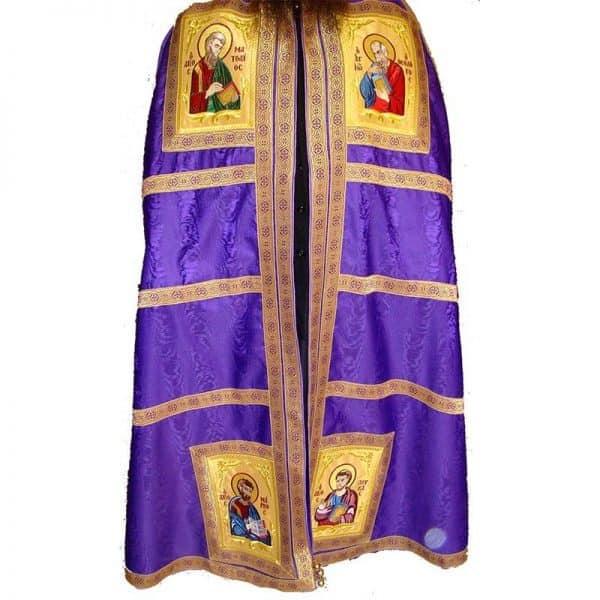 445192Αρχιερατικός Μανδύας με τους τέσσερις Ευαγγελιστες κεντημένους