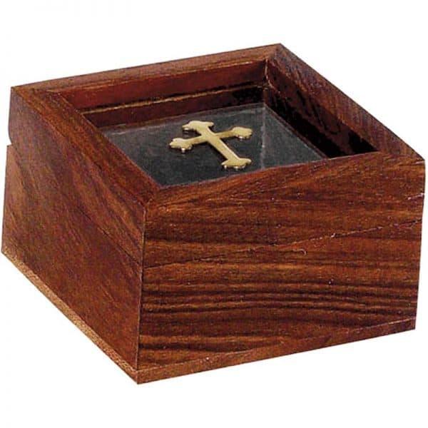 Λιβανοθήκη Λειψανοθήκη ξύλινη με τζάμι 94421