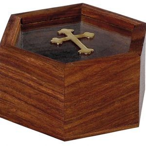 Λιβανοθήκη Λειψανοθήκη ξύλινη με τζάμι 94481