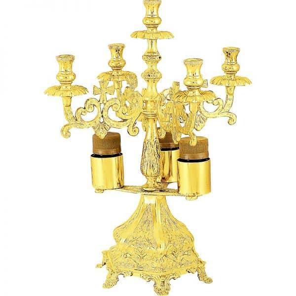 Подсвечник на пять свечей для обряда благославения хлебов