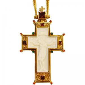 Επιστήθιος Σταυρός Ασημένιος - Λειψανοθήκη
