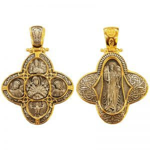 Pendant Archangel Michael - Holy Virgin Mary of the Seven Swords