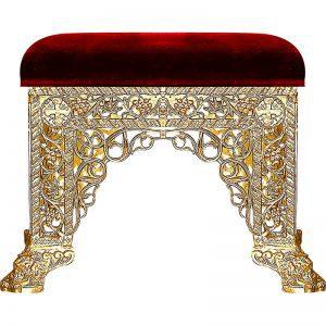 Aluminum stool with velvet
