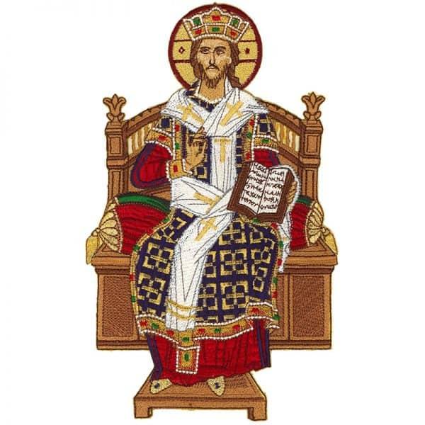 Κεντητή Παράσταση Ιησούς Χριστός Ένθρονος