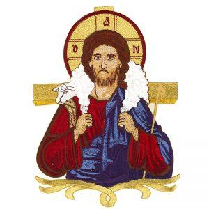 """Κεντητή Παράσταση Ιησούς Χριστός """"Καλός Ποιμήν"""""""