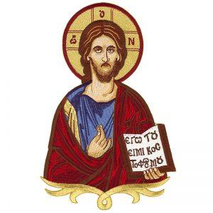 Κεντητή Παράσταση Ιησούς Χριστός Ευλογών