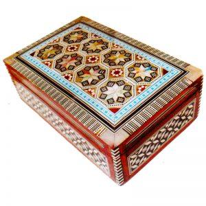 Λιβανοθήκη Λειψανοθήκη ξύλινη με φίλντισι 1285