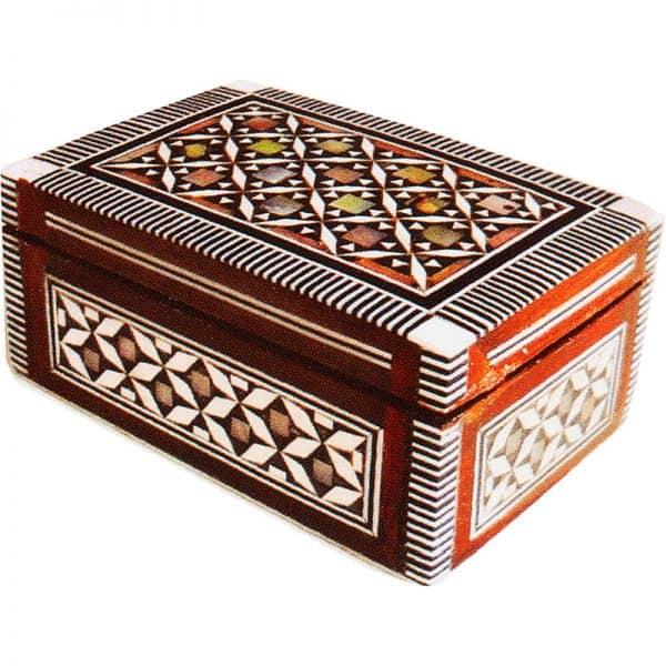 Λιβανοθήκη Λειψανοθήκη ξύλινη με φίλντισι 1289