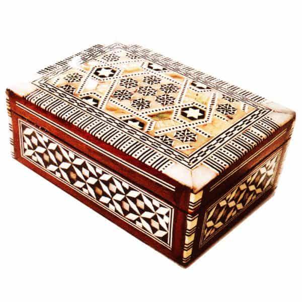 Λιβανοθήκη Λειψανοθήκη ξύλινη με φίλντισι 1293