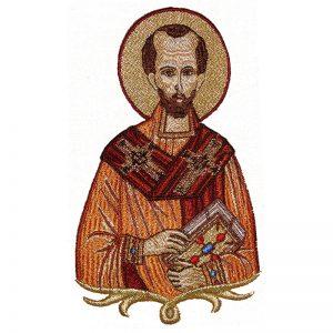 Κεντητή Παράσταση Άγιος Ιωάννης ο Χρυσόστομος