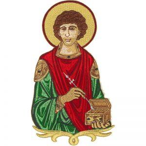 Κεντητή Παράσταση Άγιος Παντελεήμων