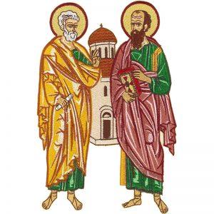 Κεντητή Παράσταση Αποστόλων Πέτρου και Παύλου