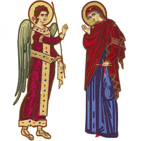 Κεντητή Παράσταση Ευαγγελισμός Της Θεοτόκου