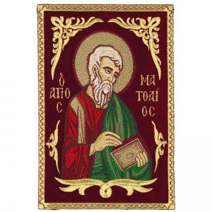 Κεντητή Παράσταση Ευαγγελιστής Ματθαίος
