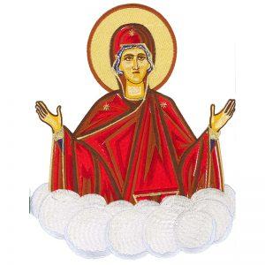 Κεντητή Παράσταση Παναγία Πλατυτέρα των Ουρανών