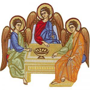 Κεντητή Παράσταση Η Φιλοξενία του Αβραάμ