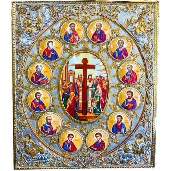 Икона Серебряная с эмалью