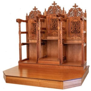 Chanters pews with pedestal