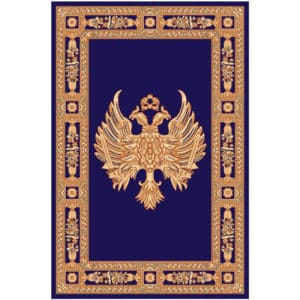 Rectangular Carpet with Double-Headed Eagle blue