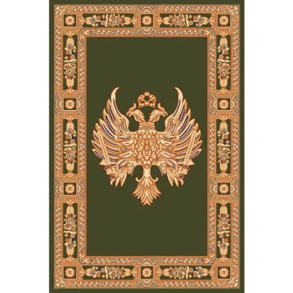 Rectangular Carpet with Double-Headed Eagle green