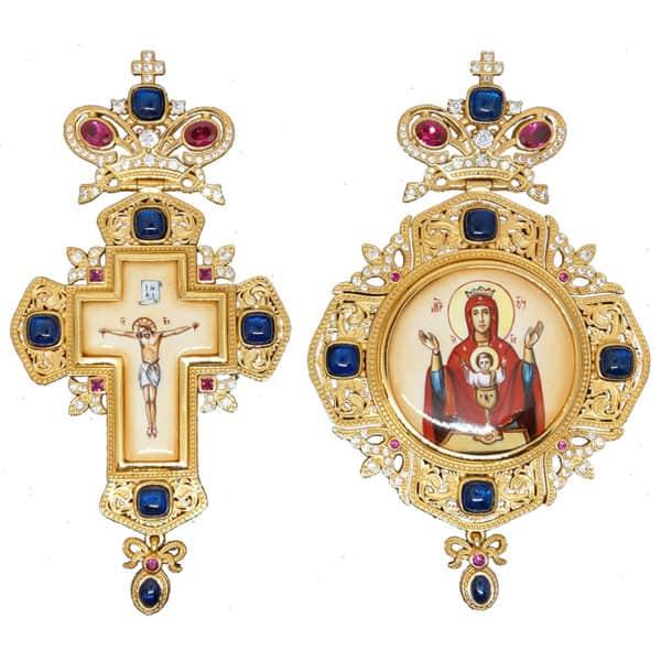 Bishop's Set silver or bronze (Pectoral Cross – Encolpio)