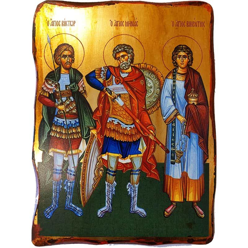 Εικόνα Άγιοι Μηνάς Βίκτωρ και Βικέντιος