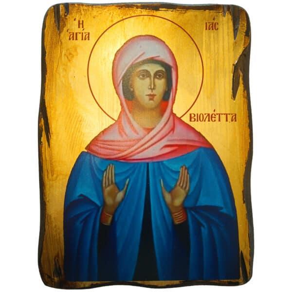 Εικόνα Αγία Ία (Βιολέτα)