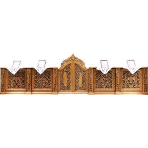 Iconostasis wood carved carved low