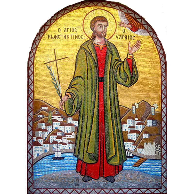 Mosaic Saint Constantine of Hydra