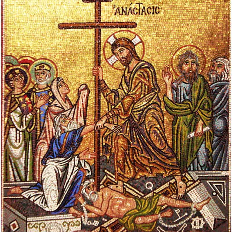 Mosaic Resurrection of Christ