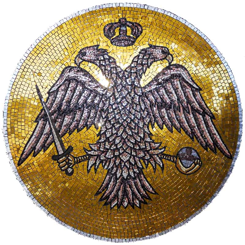 Mosaic Double-Headed Eagle