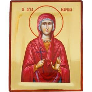 Εικόνα Στιλβωτή Αγία Μαρίνα