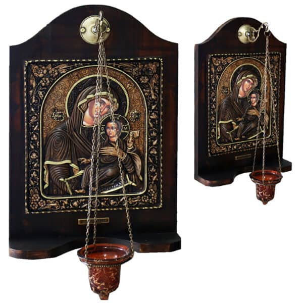 Iconostasis with hanging candle