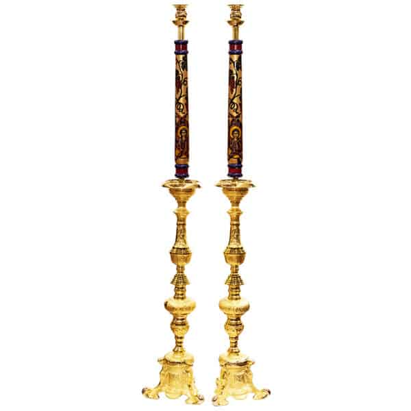 Candlestick with hagiography