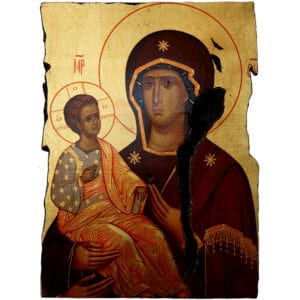 Icon Holy Virgin Mary Triheroussa