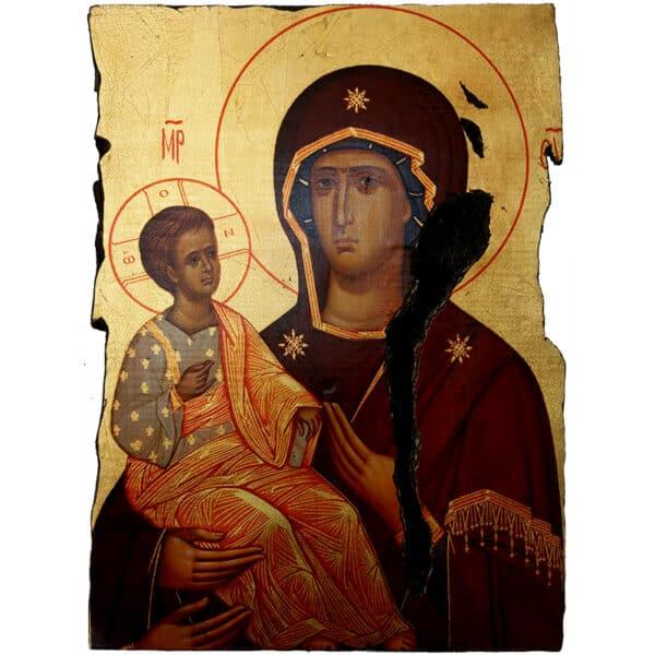 Icon Holy Virgin Mary Triheroussa