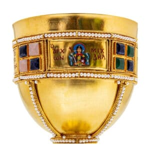 Silver Chalice set Gold Plated